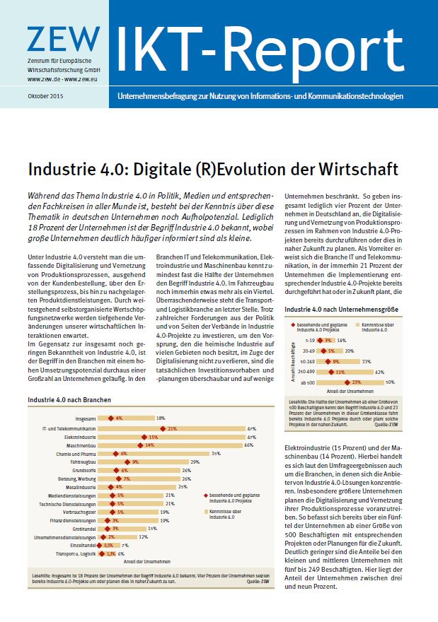 Industrie 4.0: Digitale (R)Evolution der Wirtschaft