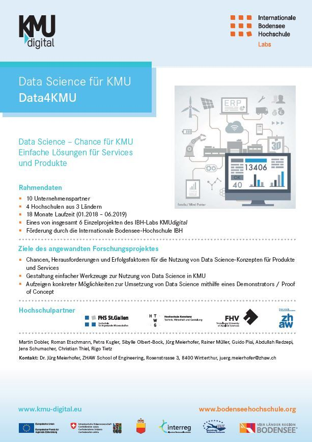 Handzettel Data Science für KMU (Data4KMU)